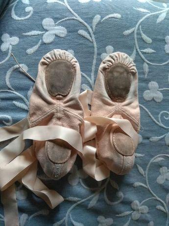 Sapatilhas meia ponta ballet com fitas