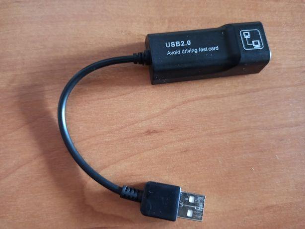 Переходник/Адаптер USB - Lan (Ethernet RJ45) для ноутбука, ТВ бокса