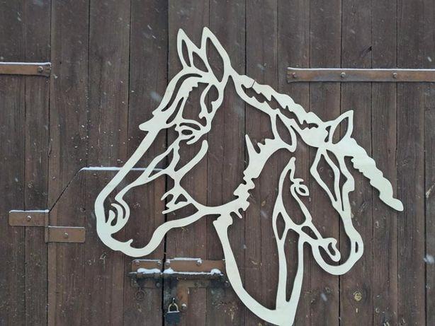 Koń, konie, dekoracja, ozdoba, wycinanka