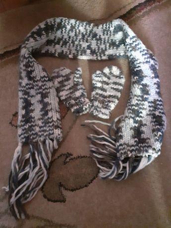 Komplet rękawiczki i szalik/czapka/bluza