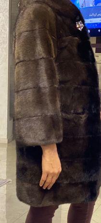 Шуба норковая (коричневая)