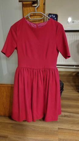 Sukienka zaprojektowana i szyta na zamówienie GLAM różowa XS