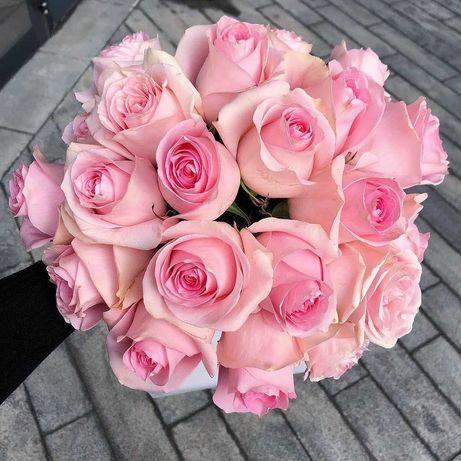 Розы, шикарный букет 19 роз. Цветы Днепр, подарок. Доставка цветов