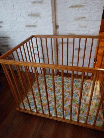 Kojec łóżeczko drewniane