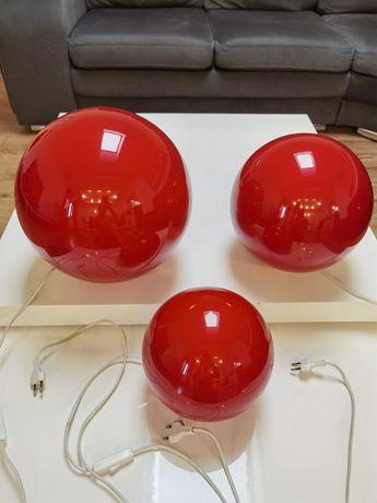 Czerwone kule lampy ozdobne