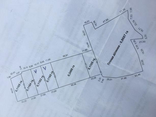 Земельна ділянка для будівництва таунхаусів або житлових будинків