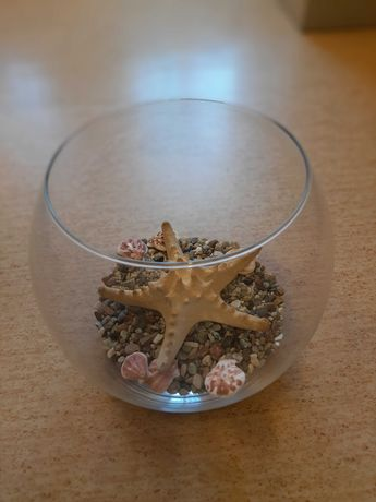 Akwarium, wazon w kształcie kuli,