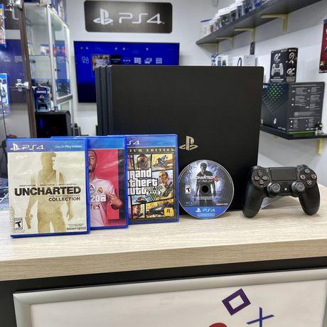 Playstation 4 pro 7215b c играми (гарантия магазин)