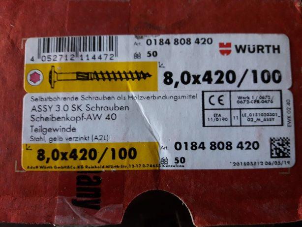 Wkręty ciesielskie Würth 8×420/100