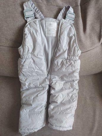 Ocieplane spodnie narciarskie Reserved dla dziewczynki rozm. 86