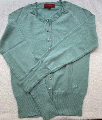 Conjunto casaco e camisola, burberry 38,verde esmeralda 60€
