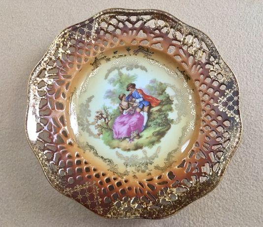 Декоративная тарелка, Kunst Rehau Bavaria, фарфор, подпись
