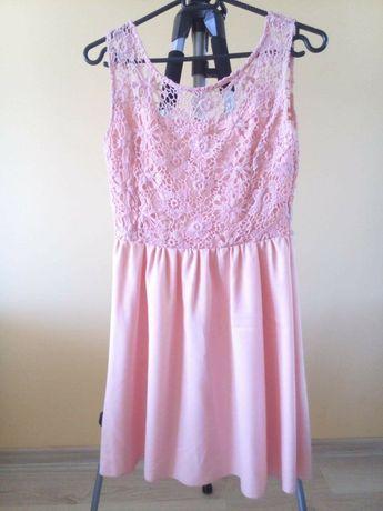 Sukienka na ślub delikatna elegancka r. 36