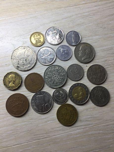 Цікаві і нечасті монети світу 18шт