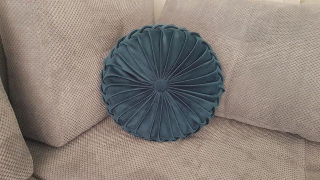 Poduszka ozdobna okrągła,, glamour