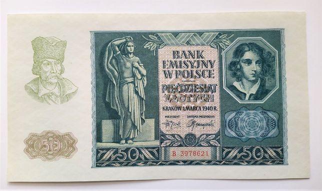 50 złotych 1940 Generalne Gubernatorstwo