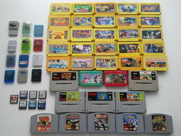 gry PRL Pegasus Super Nintendo 64 Mario Pokemon DS karty ps 1 retro 2