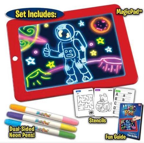 Светодиодный планшет для рисования MAGIC SKETCHPAD доска рисования