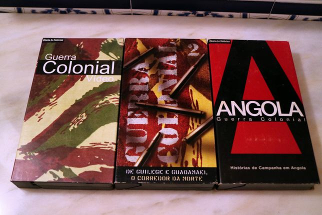 """Cassetes VHS Coleção """"Guerra Colonial"""" do Diario de Noticias"""