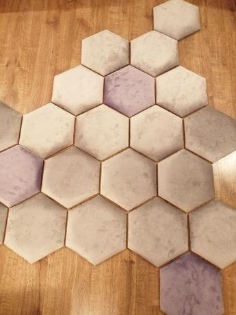 Panele tapicerowane heksagon