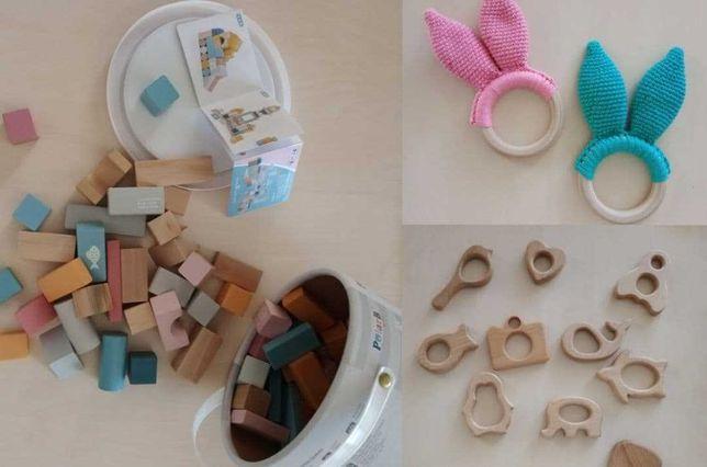 Конструктор деревянный, грызунки для малыша