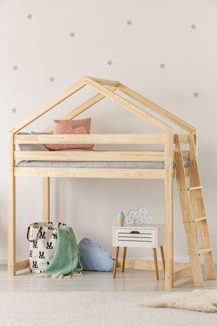 Łóżko Dziecięcę piętrowe Domek
