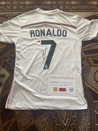 Koszulka Cristiano Ronaldo Real Madryt oryginalny autograf Certyfikat
