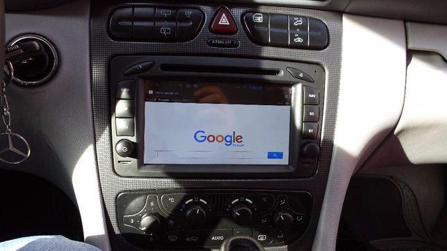 Auto rádio android mercedes-benz gps classe c w203 vito clk