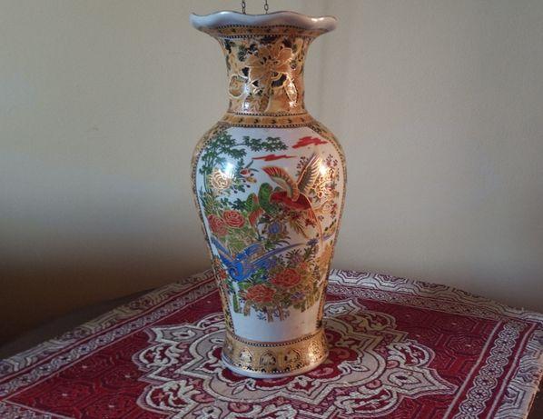 Chińska Waza z Porcelany Okazała RĘCZNIE MALOWANA