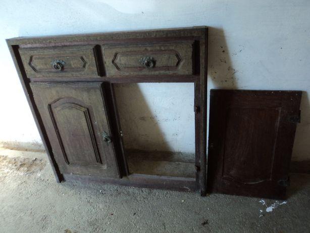Frente de armário rustico de cozinha