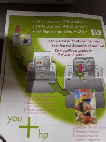 Câmera e impressora HP