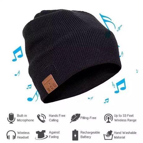 Novos! Gorro com auriculares Bluetooth 5 preto ou cinza