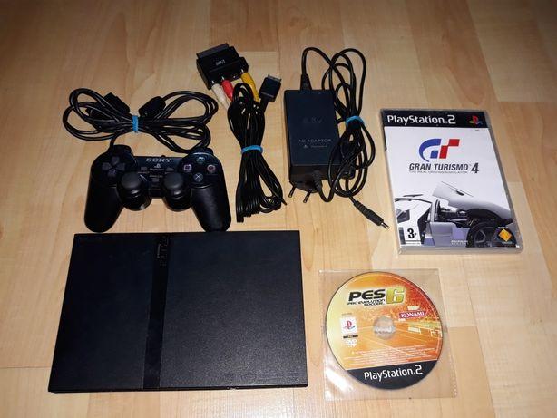 Konsola PlayStation 2 - zestaw | Pad | Zasilacz | gry Gran Turismo 4