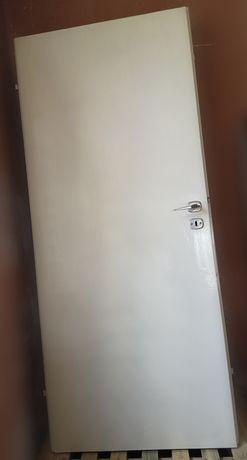 Drzwi wewnętrzne 2 sztuki 80 cm, białe, pełne