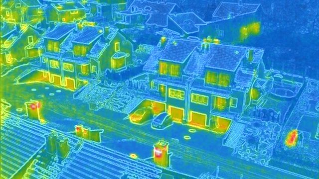 Inspekcja - badanie kamerą termowizyjną FLIR + 4K dronem / dron