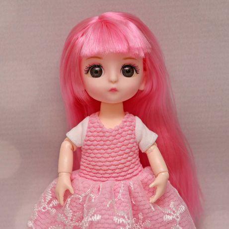 Laleczka lalka bjd 1/8 16cm ruchome stawy różowe włosy