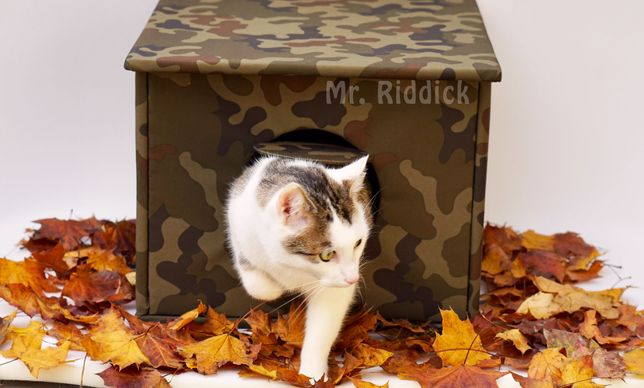 Domek budka na dwór dla kota, ocieplany, miękki wewnątrz