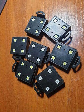 Светодиодные модули  Resun 0.64 Вт, 4 LED Blue/White - 7 штук