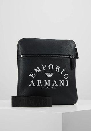 EMPORIO ARMANI Flat Messenger Bag Torba na Ramię Męska Oryginalna