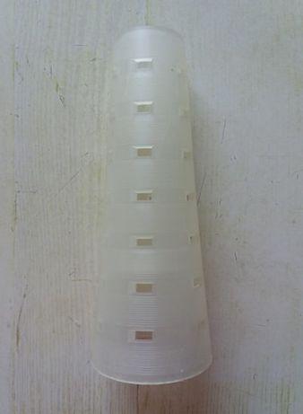 Шпульки-трубочки пластиковые для ниток, длина - 25 см.,коричневый цвет