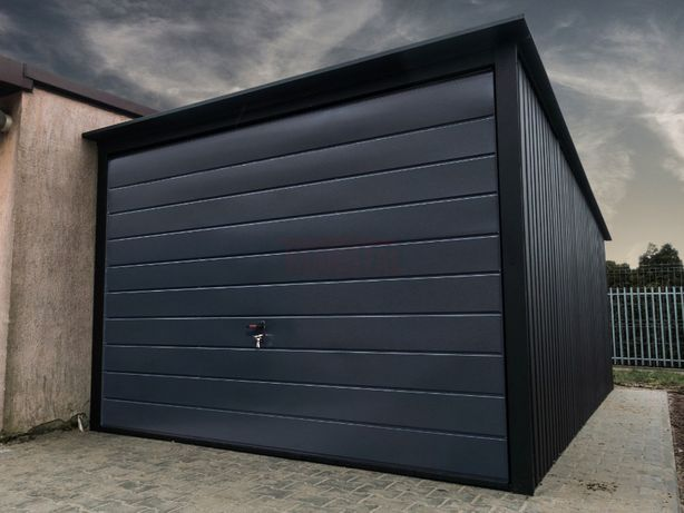 Garaż Blaszany 3x5 Czarny Mat + Grafit RAL   Garaże blaszane   Blaszak