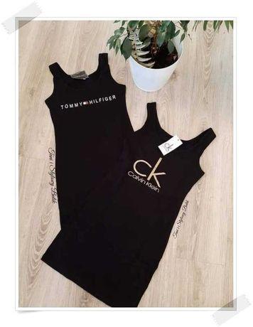 Sukienka Tunika Damska Tommy CK Calvin Klein S M L XL Koszulka Bluzka