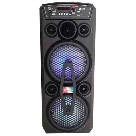 Coluna Karaoke Bluetooth c/rádio Microfone