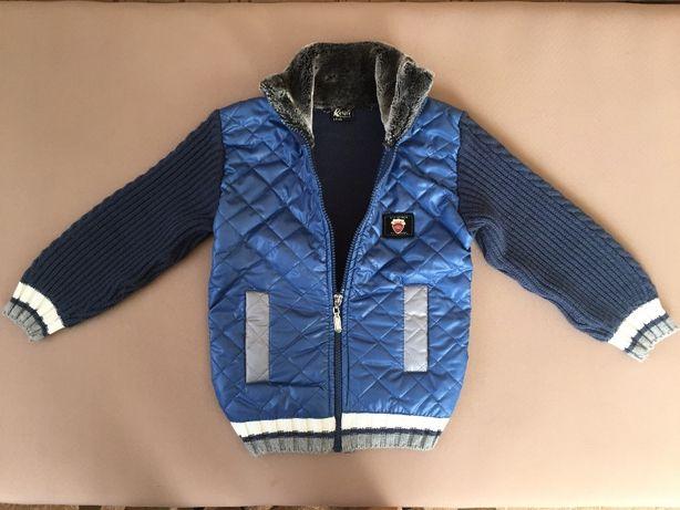 Куртка свитер демисезонная на мальчика весна лето осень 4-5 лет