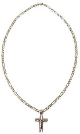 Wyrób jubilerski używany - srebrny łańcuszek z krzyżykiem 925/52cm
