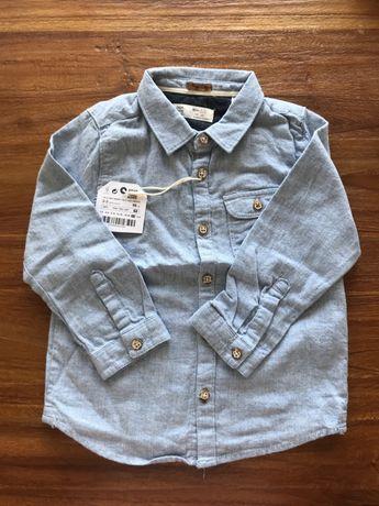 Camisa flanela azul clara