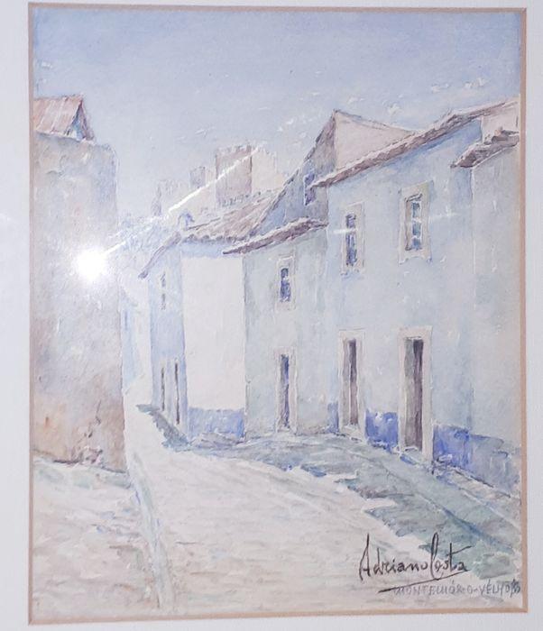 Bela Aguarela -Montemor-o-Velho-Pintor Adriano Costa - Vintage Algés, Linda-A-Velha E Cruz Quebrada-Dafundo - imagem 1