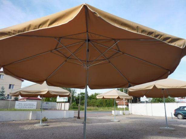 Parasol ogrodowy 450 cm - 8 ramienny z podstawą betonową 70 kg kolory