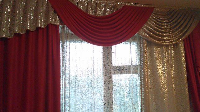 Продаю шторы    вместе с тюлью и карнизом