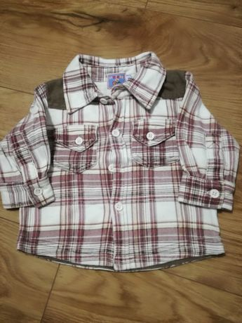 Koszula z długim krata chłopca 68